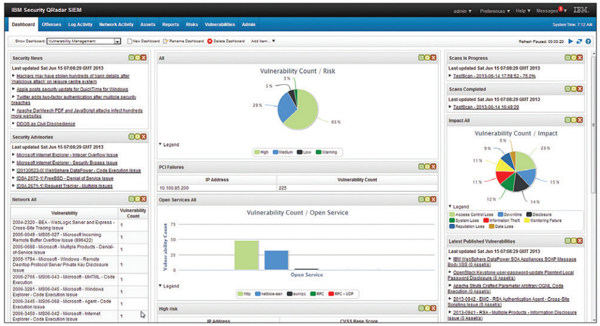 Juniper Secure Analytics Vulnerability Manager provides a single, integrated dashboard for viewing multiple vulnerability assessment feeds and threat intelligence sources; security teams can quickly identify the exposures that pose the greatest risk.